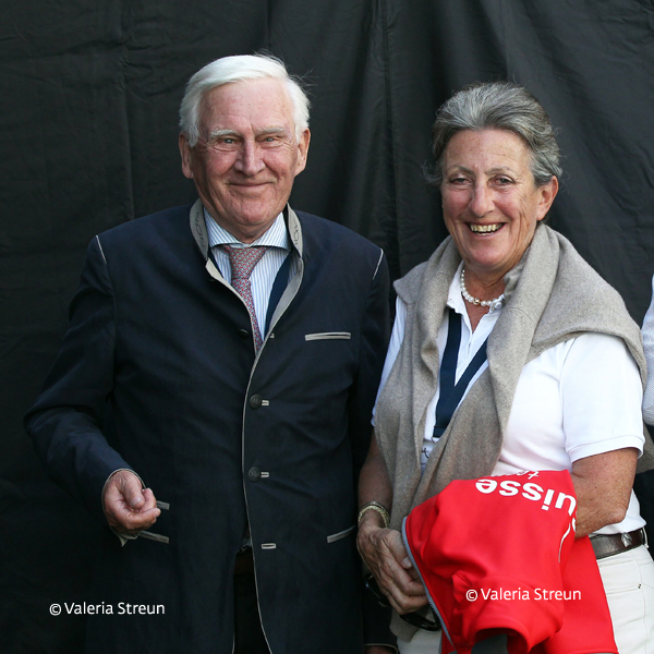 Longines FEI European Championships 2017. Supervisor Eric Lette (SWE) with Silvia Iklé during the Dressage Competitions in Göteborg. (Valeria Streun)